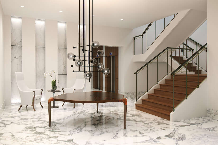 Renderings of the seven-story Giorgetti condo project planned for Steel Street in Upper Kirby. The project will carry a 118-year-old Italian furniture maker Giorgetti's brand. The project is a collaboration between the luxury Italian designer, Stolz Parnters, Mirador Group and Sudoff Companies. Photo: Courtesy Of Giorgetti