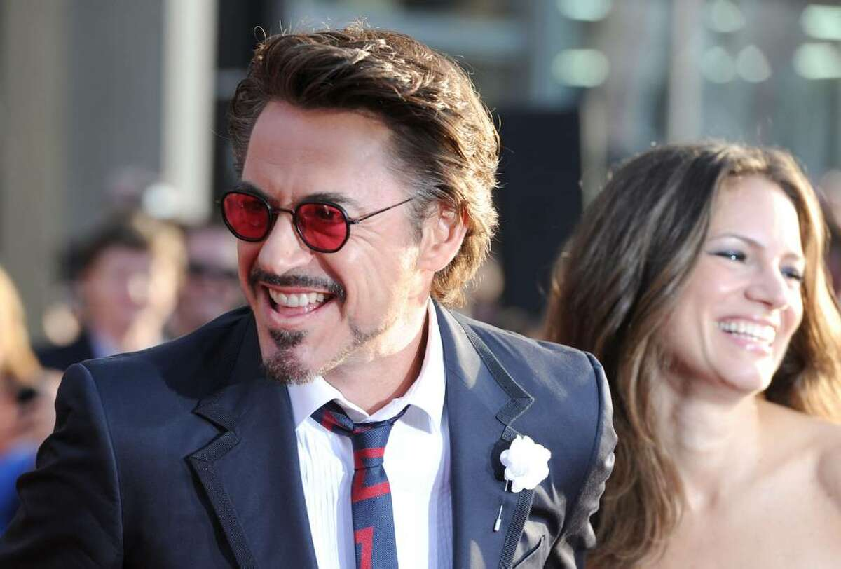"""HOLLYWOOD - APRIL 26: Actor Robert Downey Jr. (L) and producer Susan Downey arrive at the world premiere of Paramount Pictures & Marvel Entertainment's """"Iron Man 2"""" held at the El Capitan Theatre on April 26, 2010 in Hollywood, California. (Photo by Frazer Harrison/Getty Images) *** Local Caption *** Robert Downey Jr.;Susan Downey"""