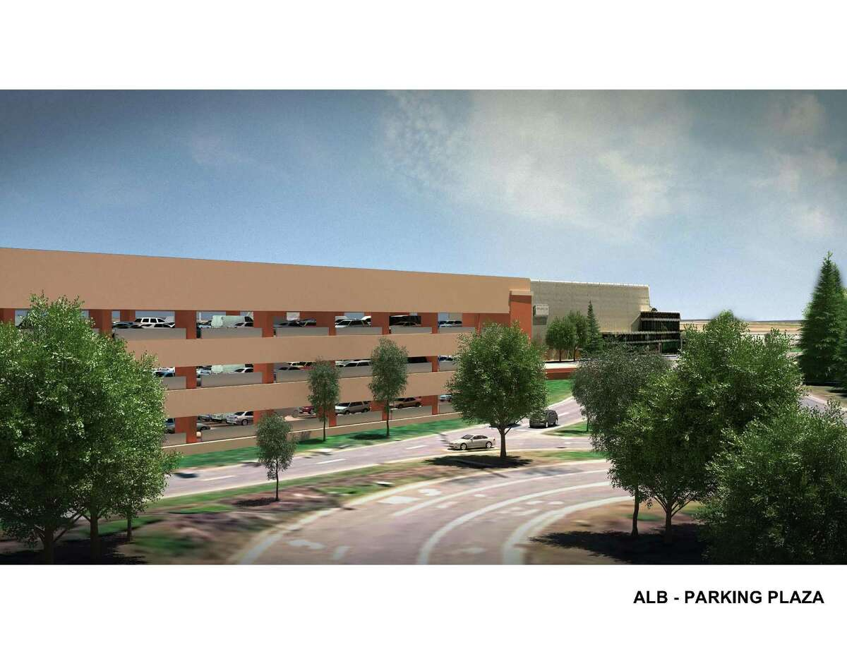 (Courtesy Albany International Airport) Rendering shows improvement to parking garage as part of the $50 million expansion project at the Albany International Airport in Albany, N.Y.