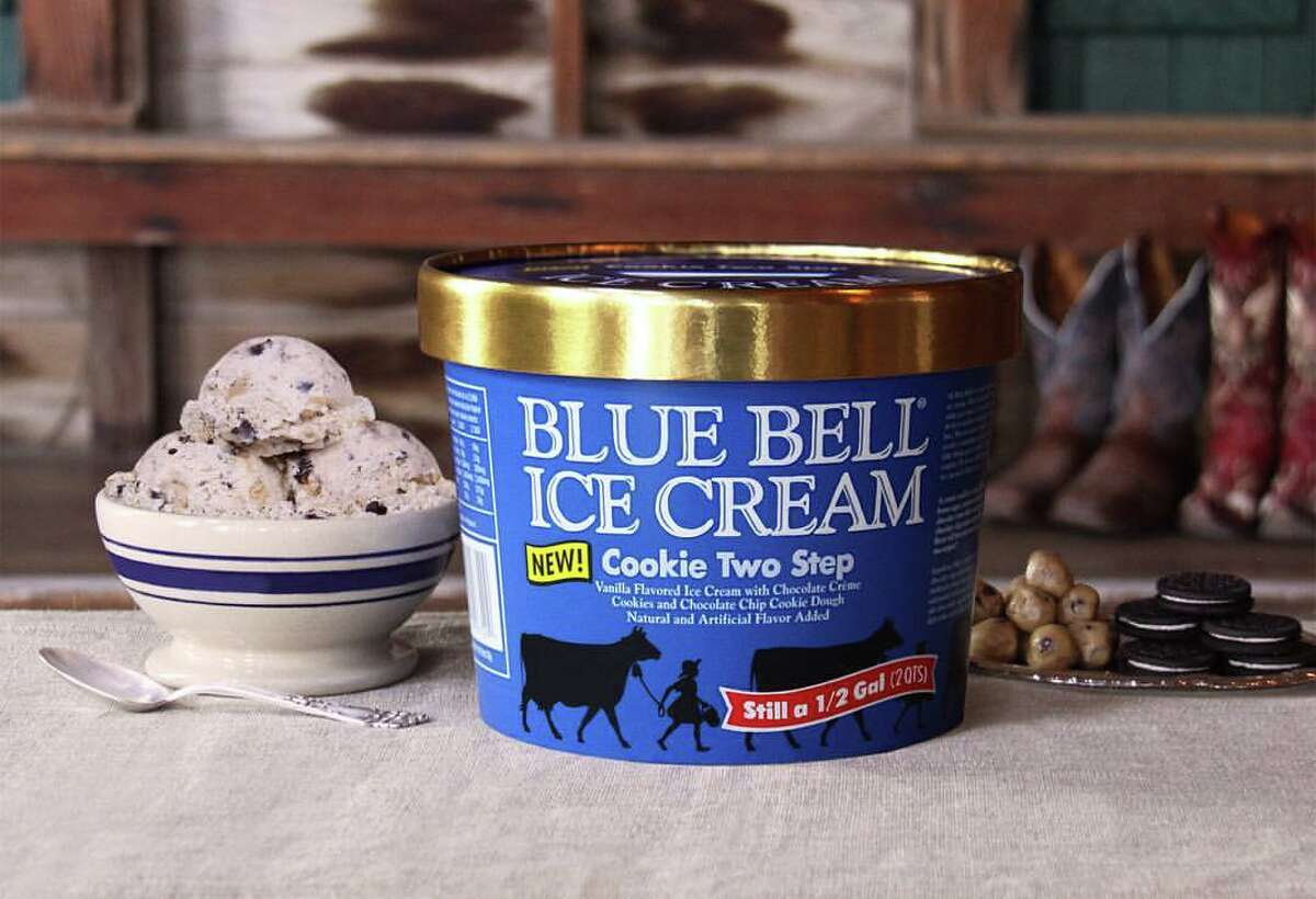 Blue Bell's Cookie Two Step flavor is pictured.