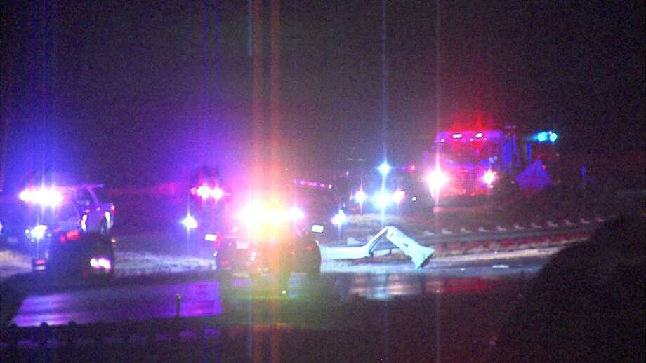 A man was seriously injured on Thursday night following a rollover crash on the Southwest Side. Photo: 21 Pro Video