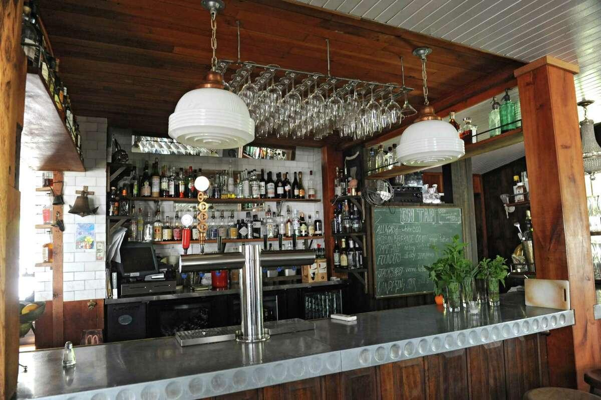 Bar at Prairie Whale restaurant on Thursday, July 7, 2016 in Great Barrington, M.A. (Lori Van Buren / Times Union)
