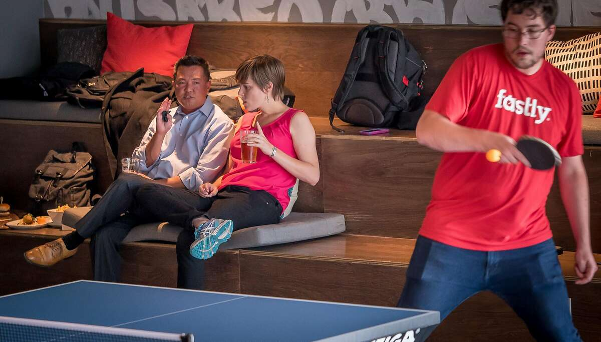 People play Ping Pong at Spin in San Francisco, Calif. on July 14th, 2016.