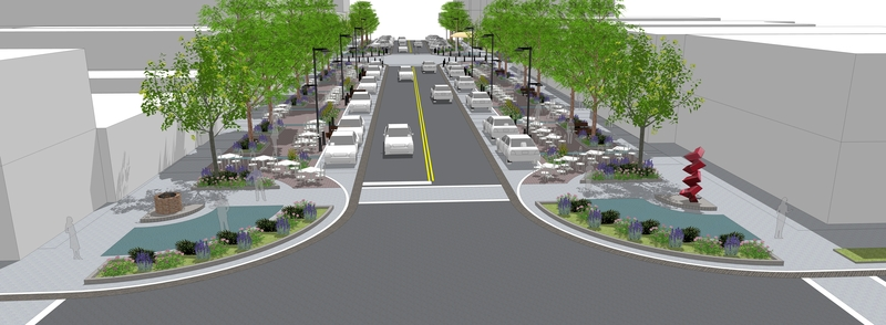 Midland city council gets the details on downtown design for Paisajismo urbano
