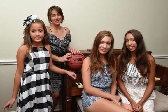 Former UTSA basketball coach Brooks Thompson died June 9, 2016. His family includes wife Michelle (second from left) and children Addison (from left), Brooke and Ryan.