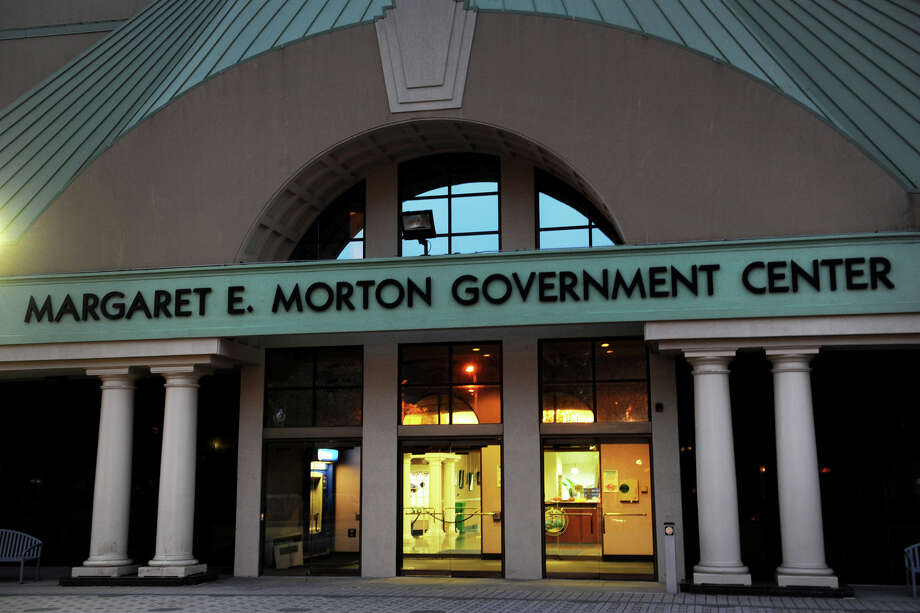 Exterior, Margaret E. Morton Government Center, in Bridgeport, Conn., Nov. 5, 2013. Photo: Ned Gerard / Ned Gerard / Connecticut Post