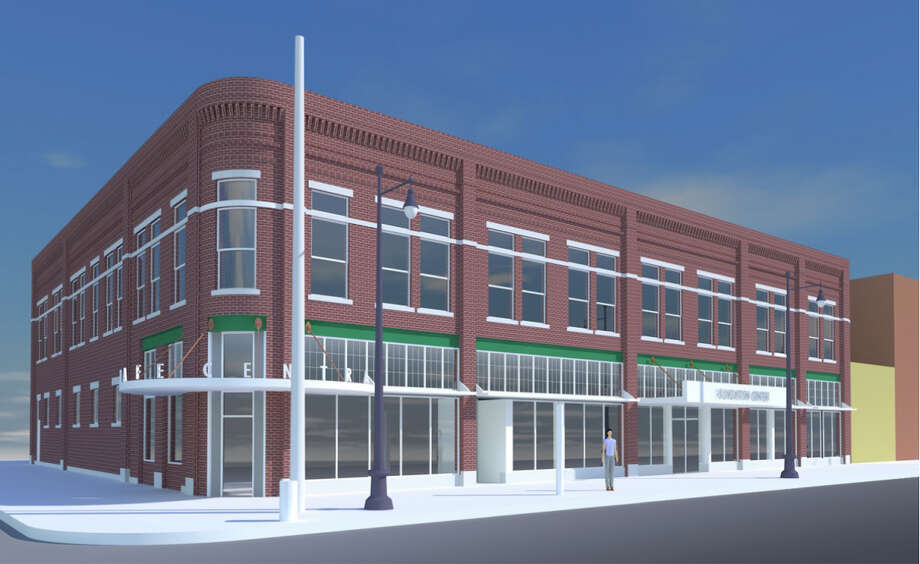 An artist's conception of the 101 N. Superior St. project to be known as The Ludington Center, named in honor of the Ludingtons of Midland.