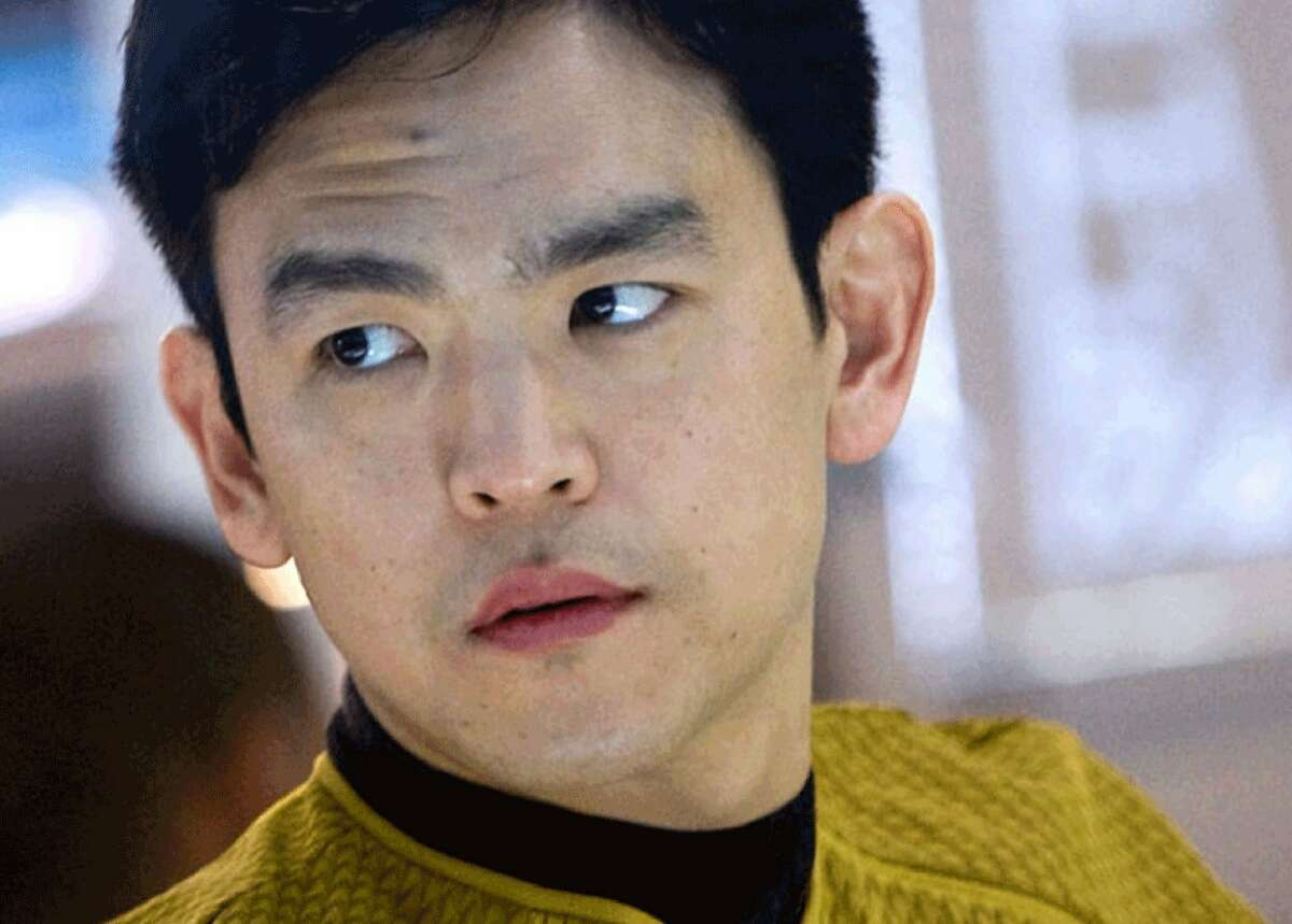 """Hikaru Sulu, played in """"Star Trek Beyond"""" by John Cho, is revealed as gay in the new film. It's apparently a tribute to the actor who originated the role, George Takei. Takei isn't saluting back. Photo courtesy Paramount Pictures."""