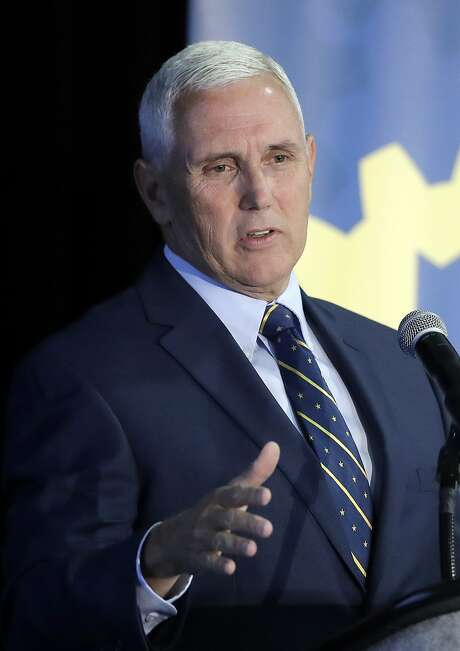 Indiana Gov. Mike Pence speaks during the Innovation Showcase, Thursday, July 14, 2016, in Indianapolis. (AP Photo/Darron Cummings) Photo: Darron Cummings, Associated Press