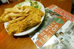 The chicken-fried steak is one of many favorite dishes offered at DeWese's Tip Top Cafe.