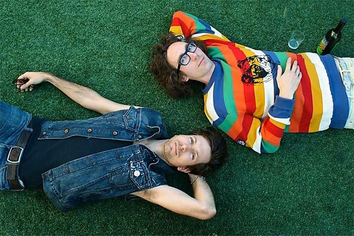 Filip Nikolic and Jeffrey Paradise of the electronic duo Poolside.