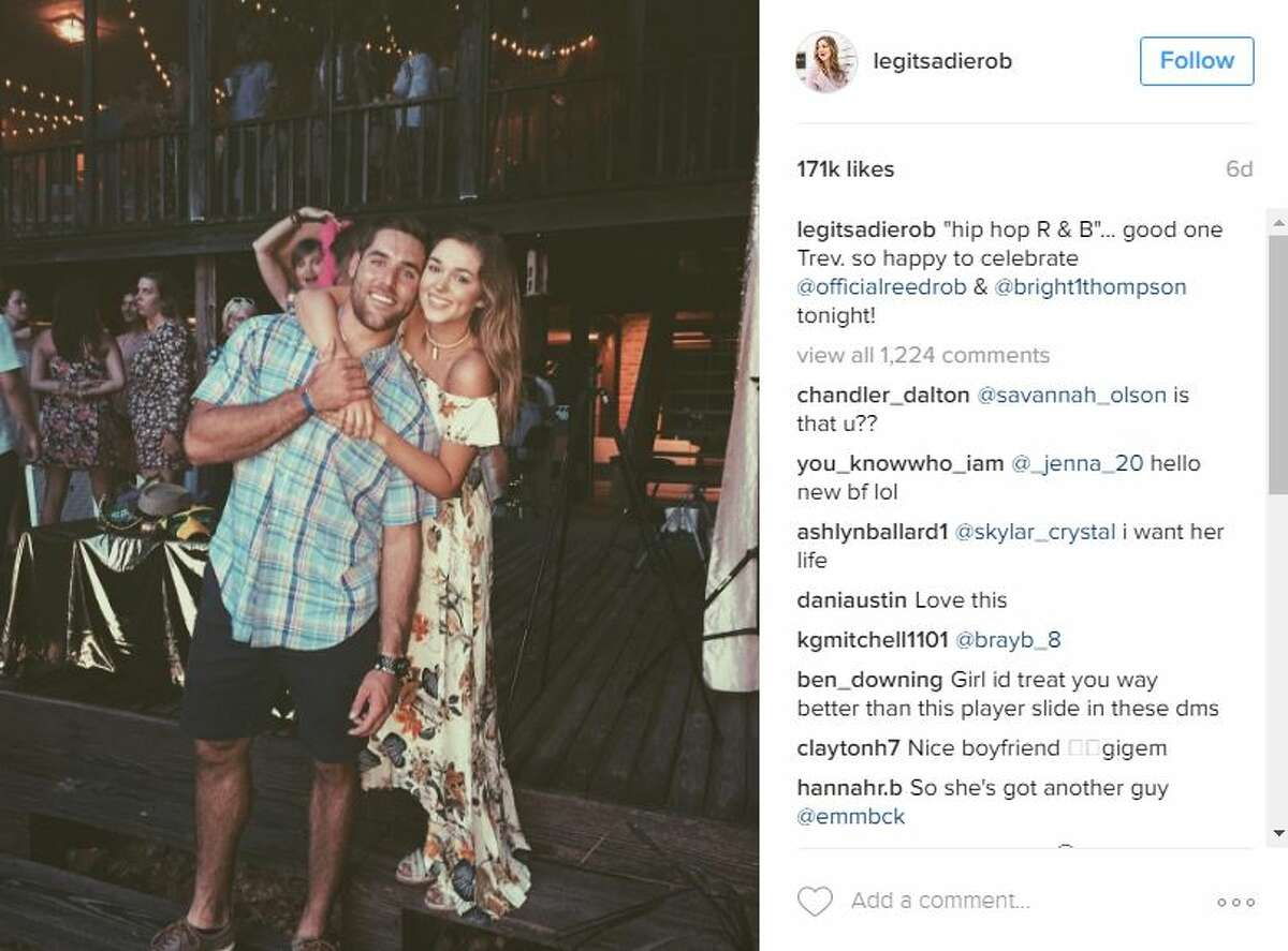 """Are San Antonio native Trevor Knight and Duck Dynasty Star Sadie Robertson dating? Robertson's camp has """"no comment,"""" but photos tell all."""