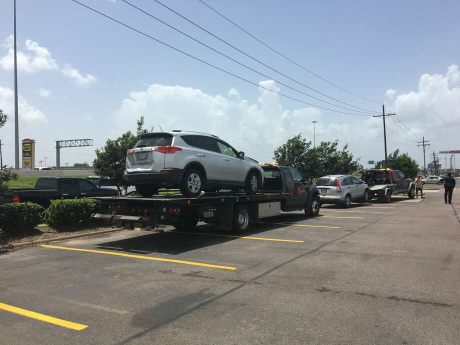 A four-vehicle crash took place along the Eastex Freeway at Lucas Drive Friday afternoon. Photo take July 15, 2016 Photo: Sara Flores/The Enterprise