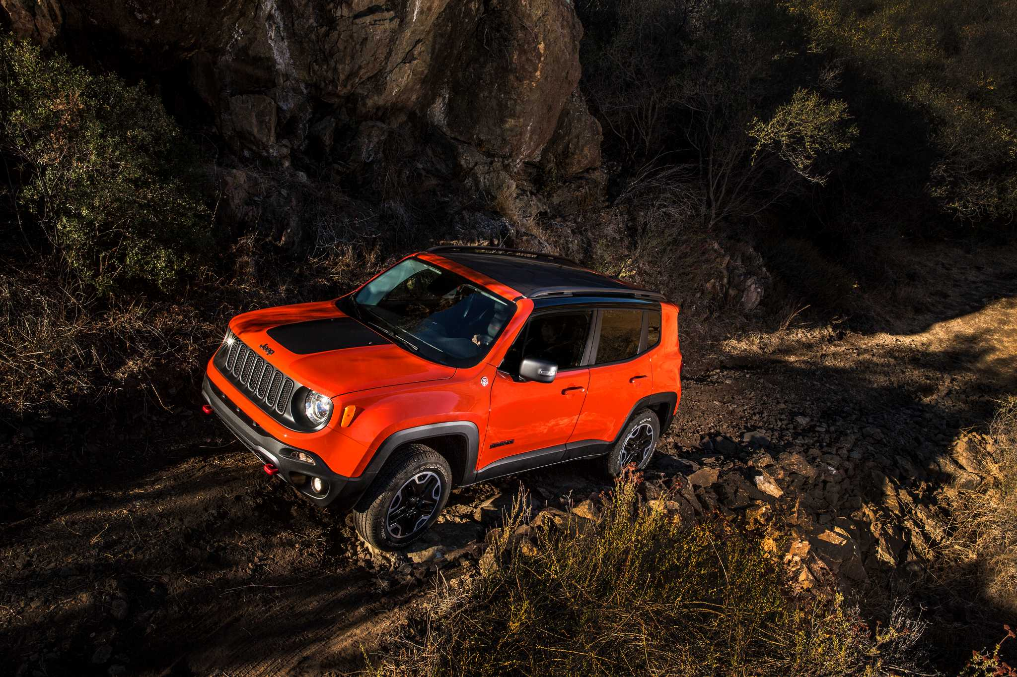 On the road: Jeep Renegade Trailhawk model designedto handle tough off-road assignments