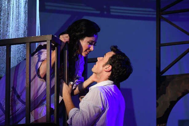 """West Side Story"" at the Summer Theatre of New Canaan features Zach Schanne (Tony) and Julia Paladino (Maria)."