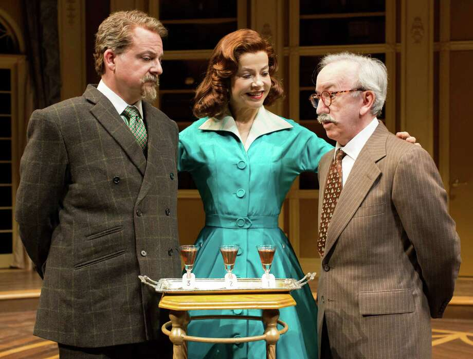 "Jeffrey Bean, from left, Josie de Guzman and John Tyson star in Agatha Christie's ""Spider's Web."" Photo: Lynn Lane / Lynn Lane"