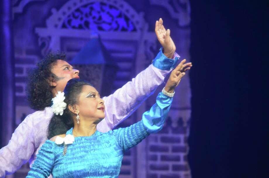 "Saswati Sen and Deepak Maharaj star in ""Ballet Romeo and Juliet in Kathak."" Photo: Indo-American Association"