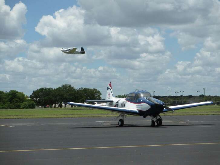 The Airport Diner at the Gillespie County Airport features views of planes landing and taking off.