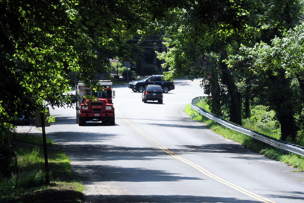 Looking south down Sport Hill Rd., near the intersection of Westport Rd. (Rt. 136) in Easton, Conn. July 13, 2016.