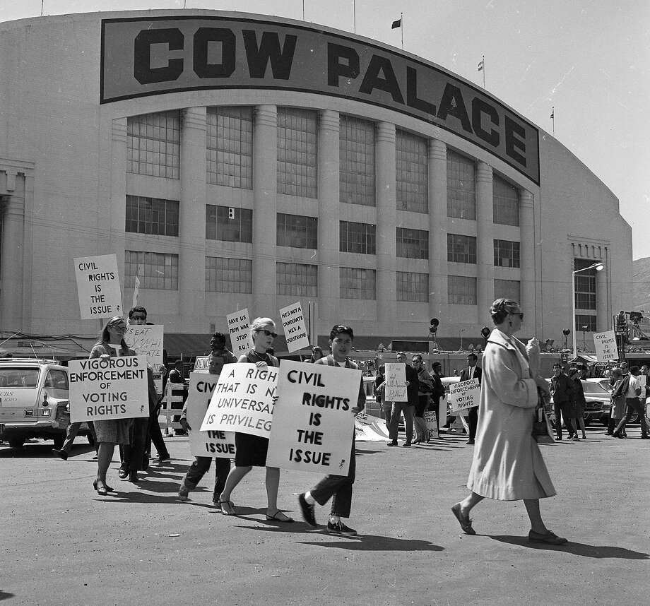 Congress on Racial Equailty civil rights protesters at the 1964 Republican National Convention at the Cow Palace on July 13, 1964. Photo: John McBride, The Chronicle