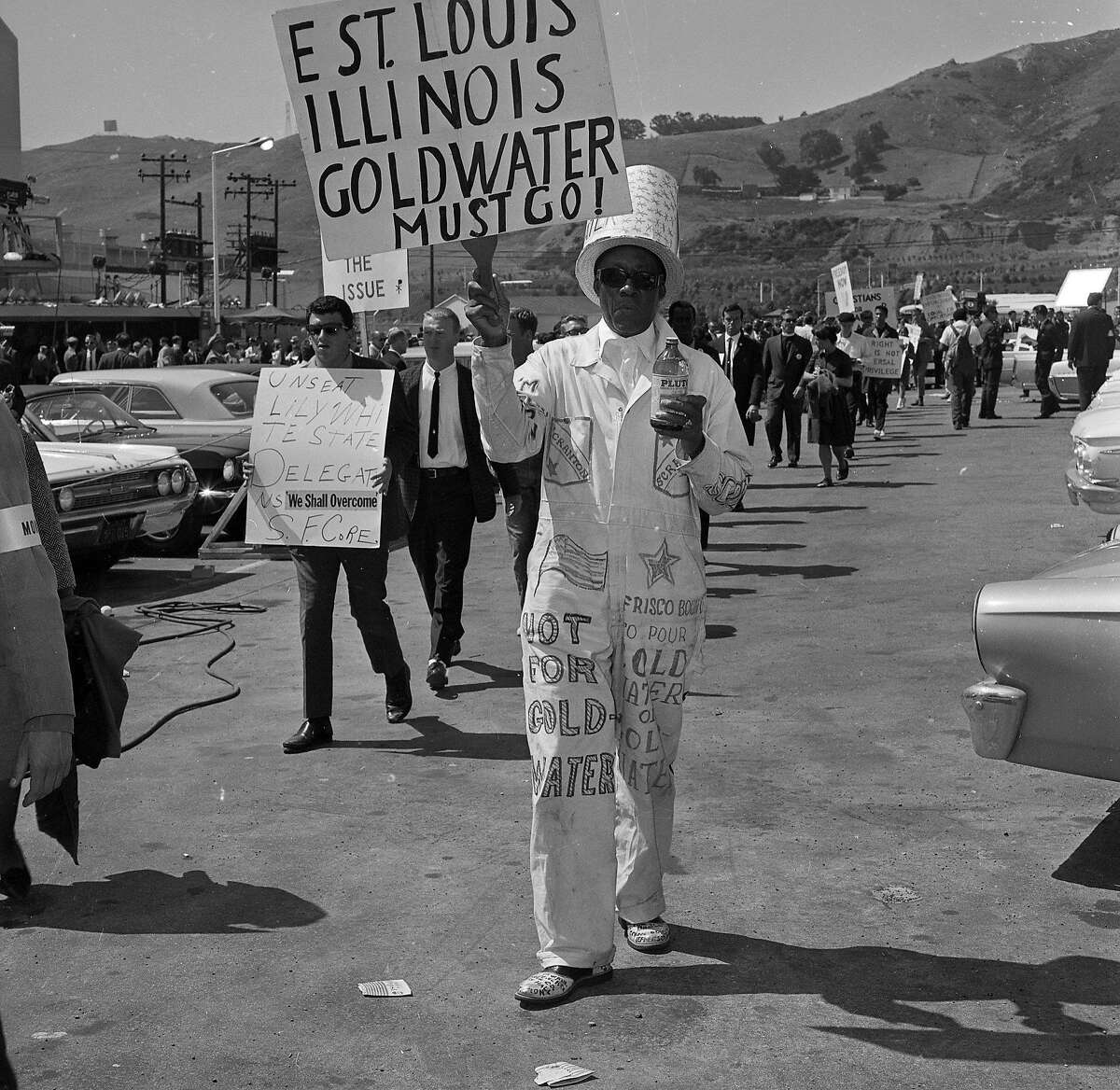 CORE Civil Rights protesters at the 1964 Republican National Convention at the Cow Palace, July 13 1964