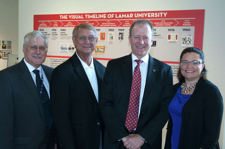 LIT Vice President for Academic Affairs Dan Wright, LIT President Paul Szuch, LU Provost and Vice President for Academic Affairs James Marquart, and LIT Dean of Instruction Melissa Armetor join efforts to improve transfers from two-year programs.