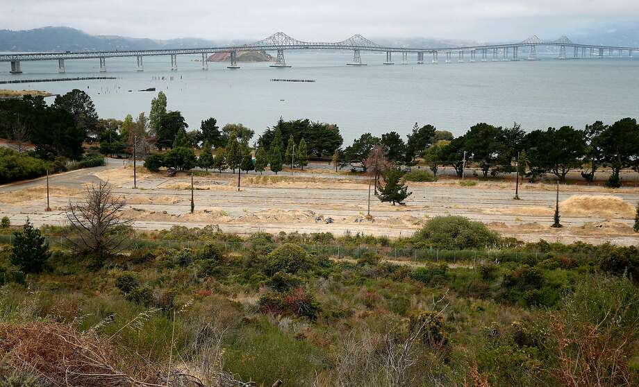 An Navy old storage yard at Point Molate has sweeping views of the Richmond-San Rafael Bridge in Richmond, Calif. on Friday, July 15, 2016. Photo: Paul Chinn / The Chronicle