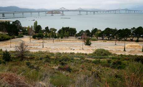 An Navy old storage yard, where the city of Richmond hopes to develop homes on Drum Road at Point Molate has sweeping views of the Richmond-San Rafael Bridge in Richmond. Photo: Paul Chinn / The Chronicle 2016
