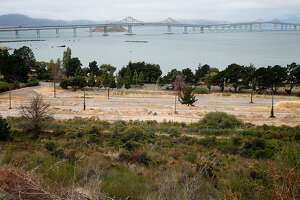An Navy old storage yard where a developer hopes to build homes on Drum Road at Point Molate has sweeping views of the Richmond-San Rafael Bridge in Richmond, Calif. on Friday, July 15, 2016. Residents and environmentalists are not happy with a plan by the city's mayor to hand over prime real estate to the developer of a failed casino project at the same location.