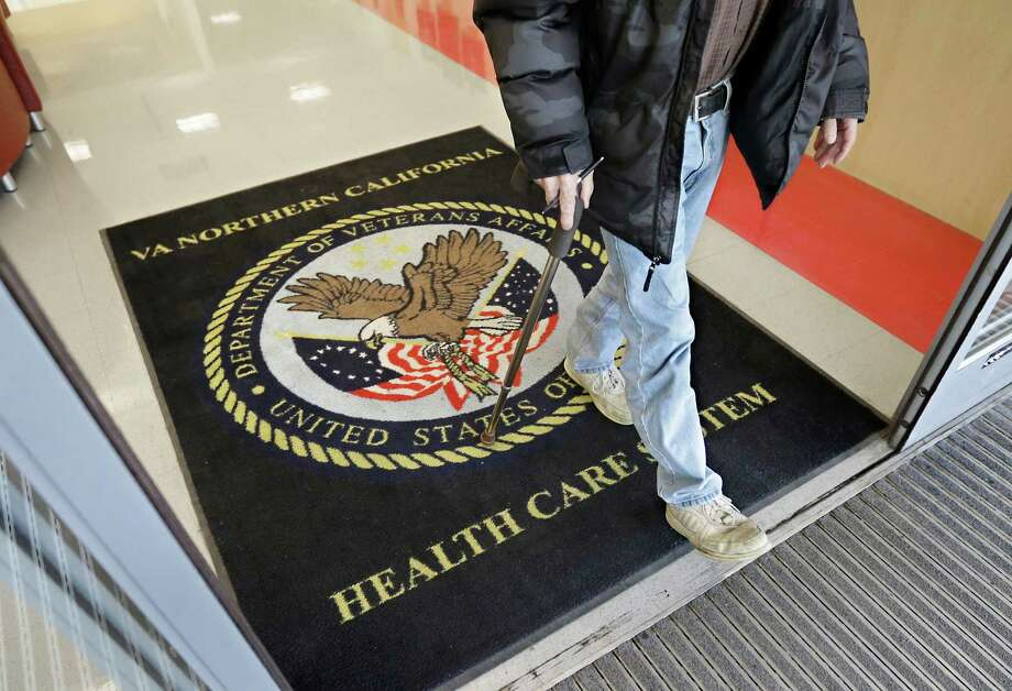 A visitor leaves the Sacramento Veterans Affairs Medical Center in Rancho Cordova, California in 2015. Photo: Rich Pedroncelli /Associated Press / AP