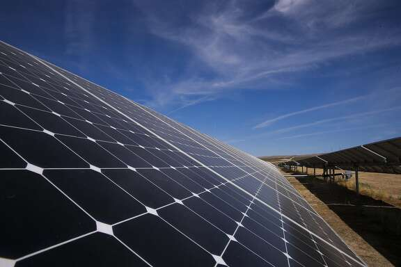 A view of some of the 749,088 solar panels at the California Valley Solar Farm near Santa Margarita, Calif., in San Luis Obispo County, on Fri. August 28, 2015.