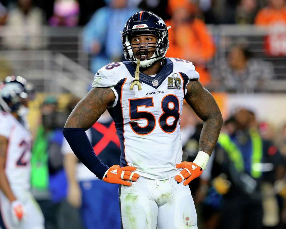 Broncos outside linebacker Von Miller, who was picked second overall in the 2011 draft out of Texas A&M, has 60 career sacks over five seasons in the NFL. Photo: Gregory Payan, STF / Copyright 2016 The Associated Press. All rights reserved. This material may not be published, broadcast, rewritten or redistribu