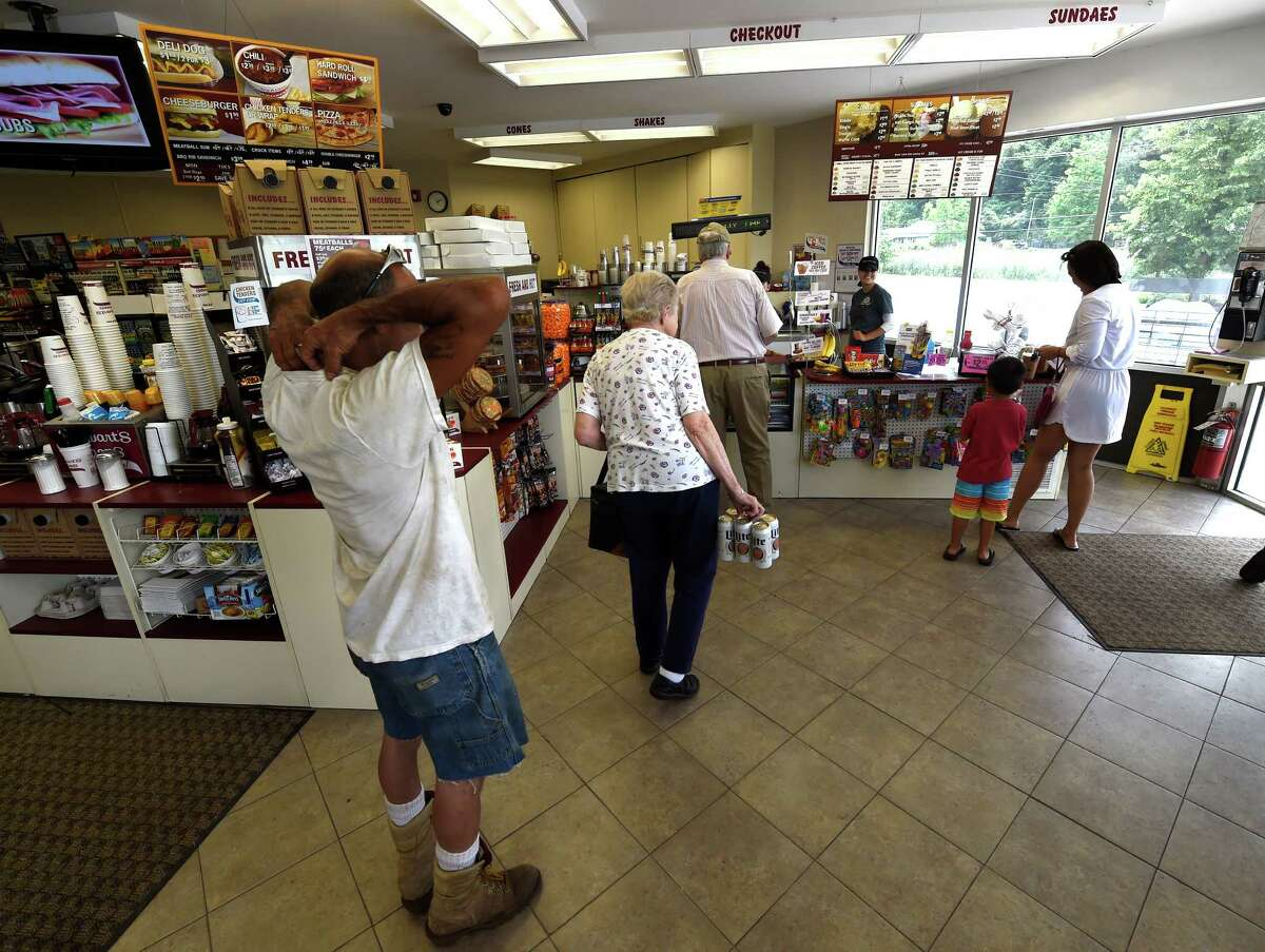 Customers are queued up at the Stewart's on Route 9P Friday July 15 2016 in Stillwater, N.Y. (Skip Dickstein/Times Union)