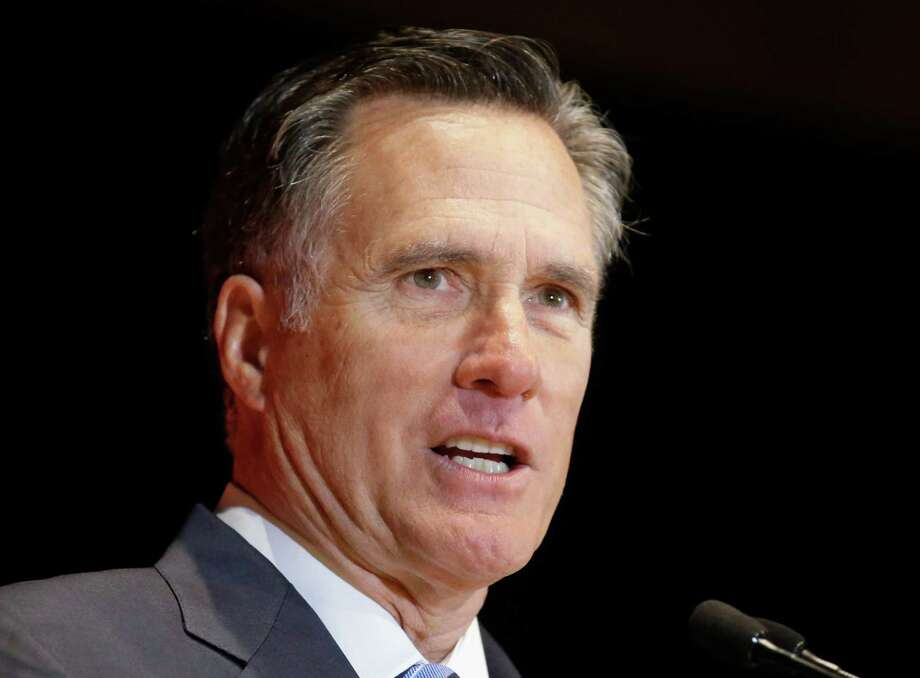 Former presidential candidate Mitt Romney  (AP Photo/Rick Bowmer, File) Photo: Rick Bowmer, STF / Copyright 2016 The Associated Press. All rights reserved. This material may not be published, broadcast, rewritten or redistribu
