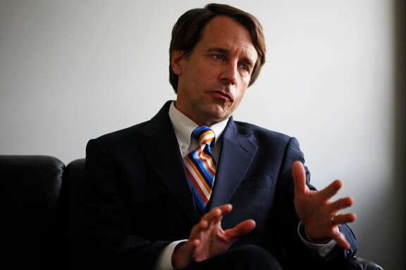 California Insurance Commissioner Dave Jones talks to a reporter during a meeting at the offices of The Chronicle on August 21, 2014 in San Francisco, Calif.