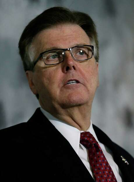 "FILE - This May 13, 2016 file photo shows Texas Lt. Gov. Dan Patrick speaking during a news conference at the Texas Republican Convention in Dallas. Patrick has deleted a tweet quoting the New Testament that he posted after the deadly Orlando nightclub shooting. Hours after the Sunday, June 12, 2016 shooting at a gay nightclub that left at least 50 people dead, Patrick sent a tweet from his personal account: ""Do not be deceived. God cannot be mocked. A man reaps what he sows."" (AP Photo/LM Otero, file) Photo: LM Otero, STF / Associated Press / AP"