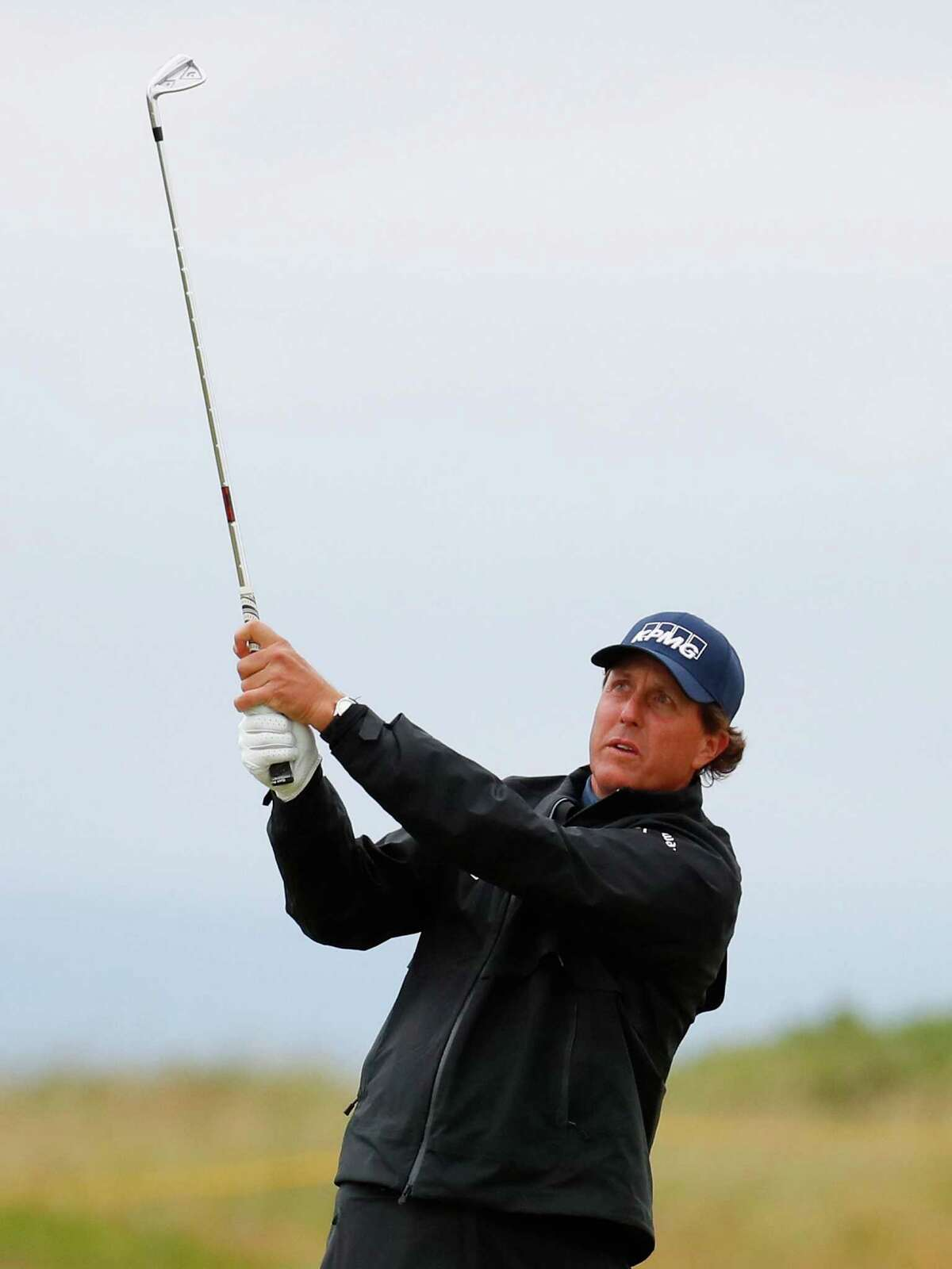 TROON, SCOTLAND - JULY 15: Phil Mickelson of the United States hits his second shot on the 3rd during the second round on day two of the 145th Open Championship at Royal Troon on July 15, 2016 in Troon, Scotland. (Photo by Kevin C. Cox/Getty Images) ORG XMIT: 631393979