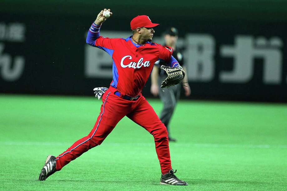 Infielder Yulieski Gurriel played for Cuba during the 2013 World Baseball Classic in Japan, as well as the 2004 Oluympics. Photo: Koji Watanabe, Stringer / 2013 Getty Images