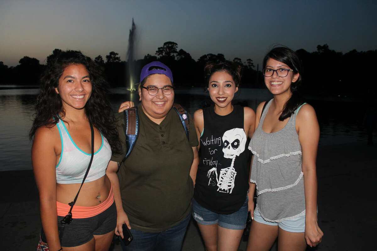 """The Bayou City's most enthusiastic Pokèmon trainers flocked to Hermann park armed with water, snacks, lures and plenty of PokeBalls to spend a night trying to """"catch 'em all."""""""