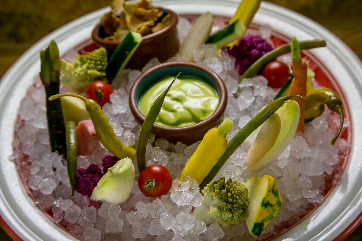 The raw vegetable platter at Bellota in San Francisco, Calif. is seen on July 15th, 2016.