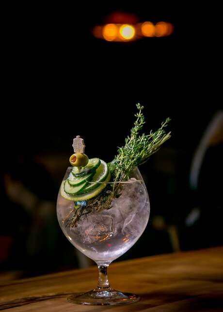 The Earth Gin & Tonic at Bellota in S.F.: Next time leave the salad for the appetizer course. Photo: John Storey, Special To The Chronicle