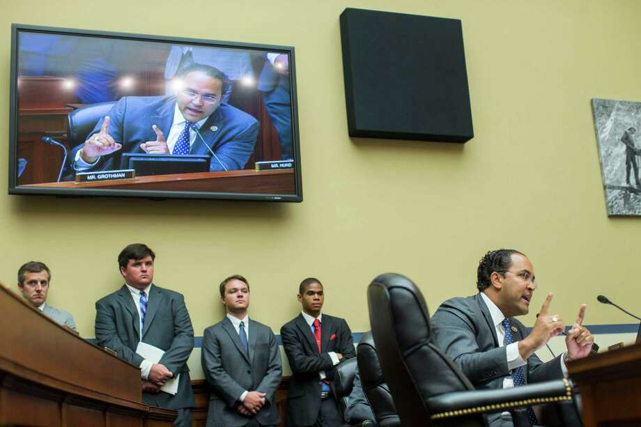 Rep. William Hurd (R-Texas) questions FBI Director James Comey while he testified before the House Oversight and Government Reform Committee, on Capitol Hill in Washington, July 7, 2016. Comey faced questions about why he advised against charging Hillary Clinton in her mishandling of classified information. (Al Drago/The New York Times) Photo: AL DRAGO, STF / NYT / NYTNS