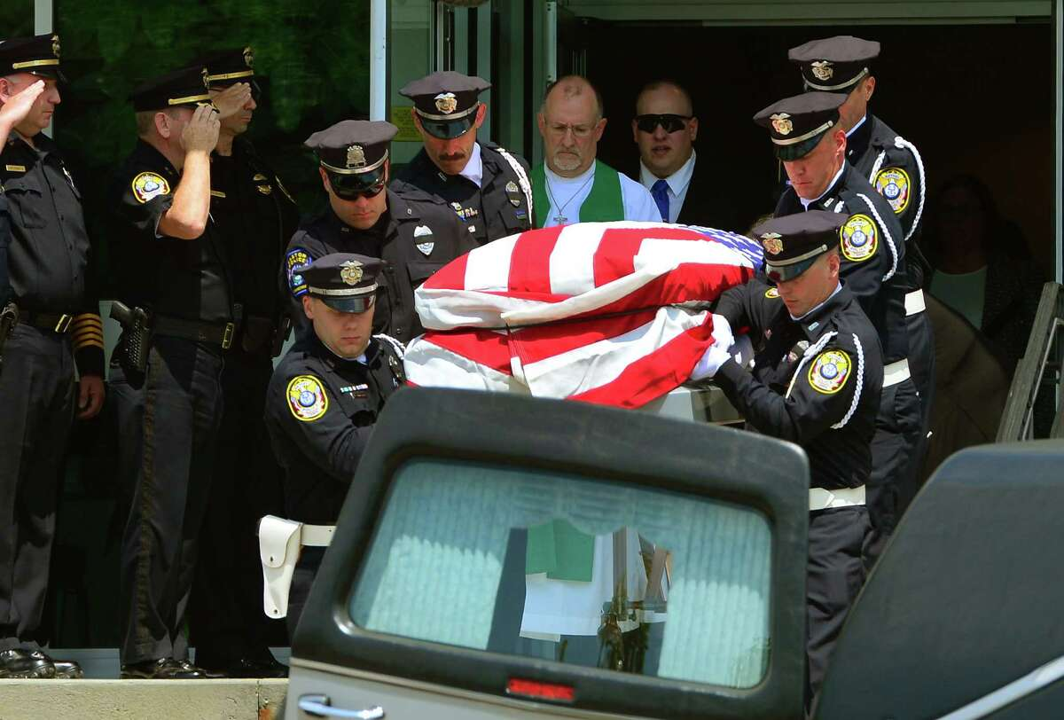 A funeral service for retired Bethel police officer Kevin Kennedy was held at Immanuel Lutheran Church in Danbury, Conn., on Saturday July 16, 2016. The burial took place at Immanuel Lutheran Cemetery following the service. Police said Kennedy, who retired last year, shot himself after authorities were called to the Plumtree Heights Condo Complex where he resided in Bethel.
