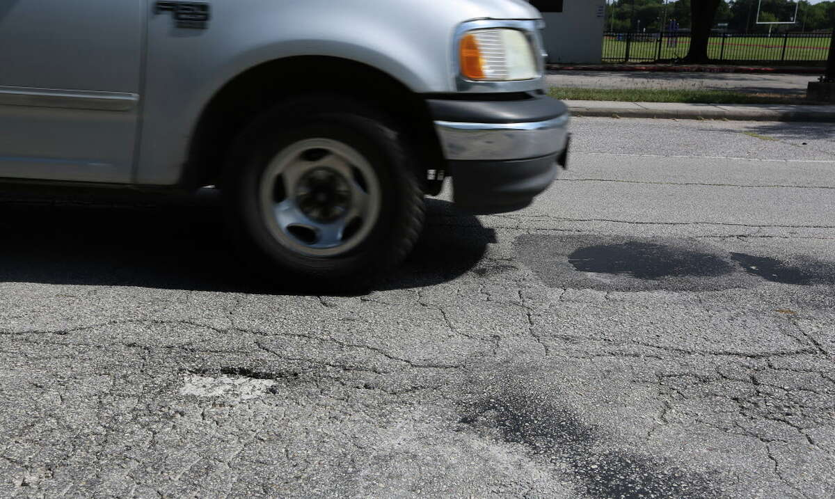 A pothole filled in January by Mayor Sylvester Turner at 9733 Neuens Road held up, as seen on July 7. A new report has found Houston's roads are better than many of its big city peers.