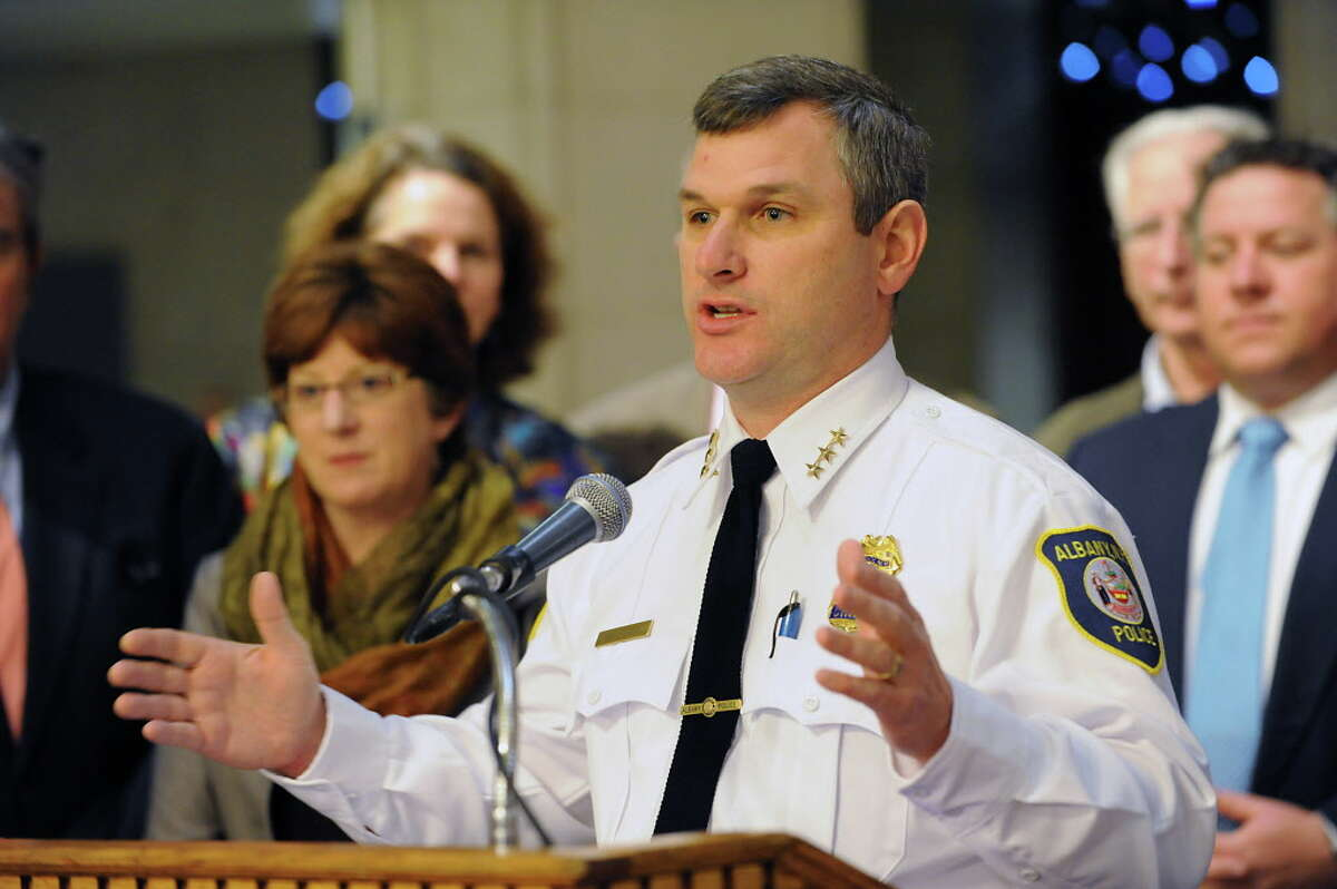 Albany Police Chief Brendan Cox responded to the controversy over remarks make by an city officer by releasing a two-page letter that addressed tension between police and the black community. (Times Union file photo)