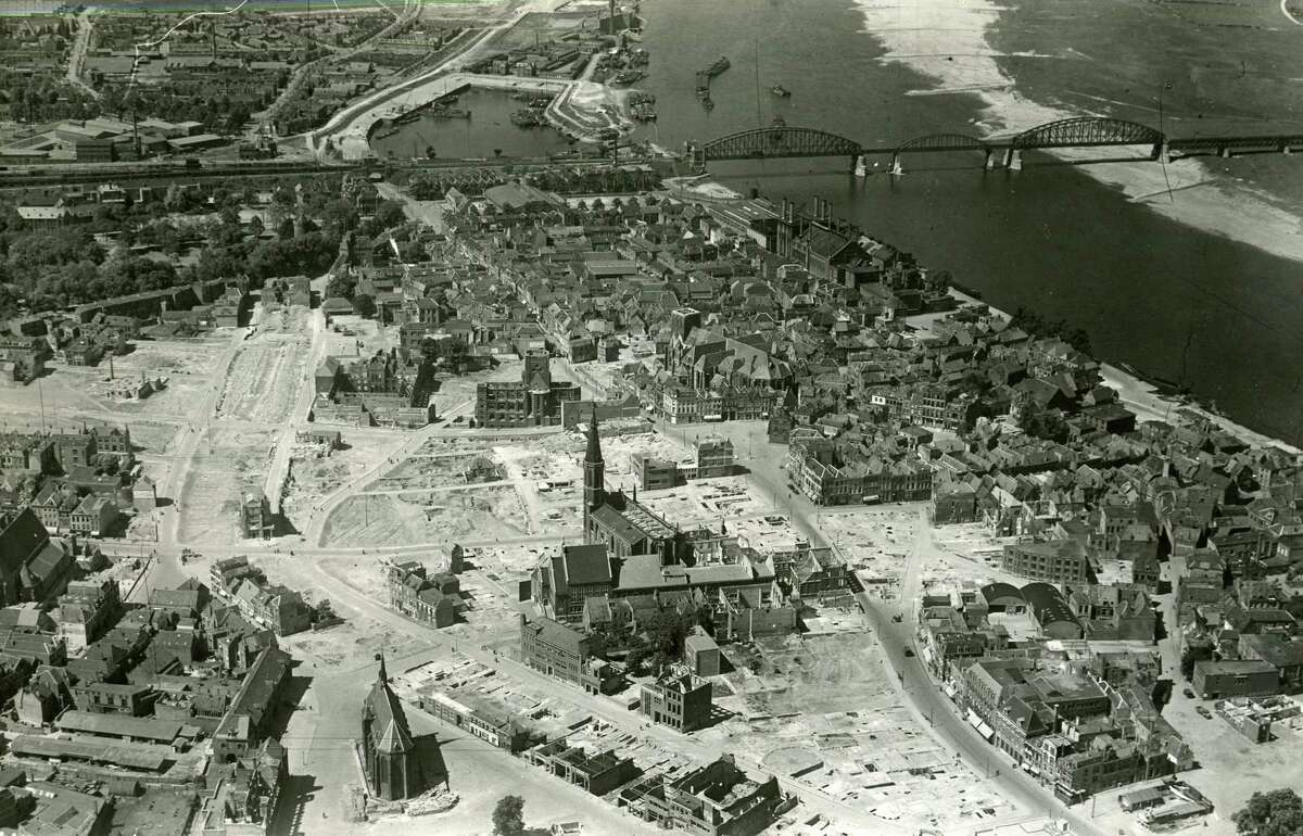 View of Nijmegen Holland from May 1946. (Times Union archive)