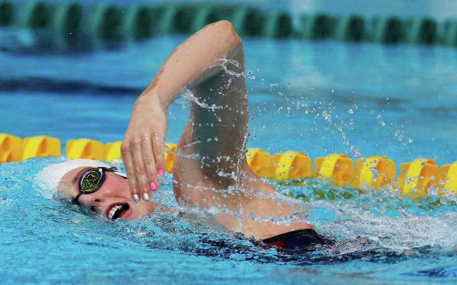 Olympic swimmer Missy Franklin swims laps as the 2016 U.S. Olympic Swimming Team holds practice at Northside Natatorium on July 16, 2016. The team is in final preparation for the upcoming Rio 2016 Olympic Games. Photo: Kin Man Hui /San Antonio Express-News / ©2016 San Antonio Express-News