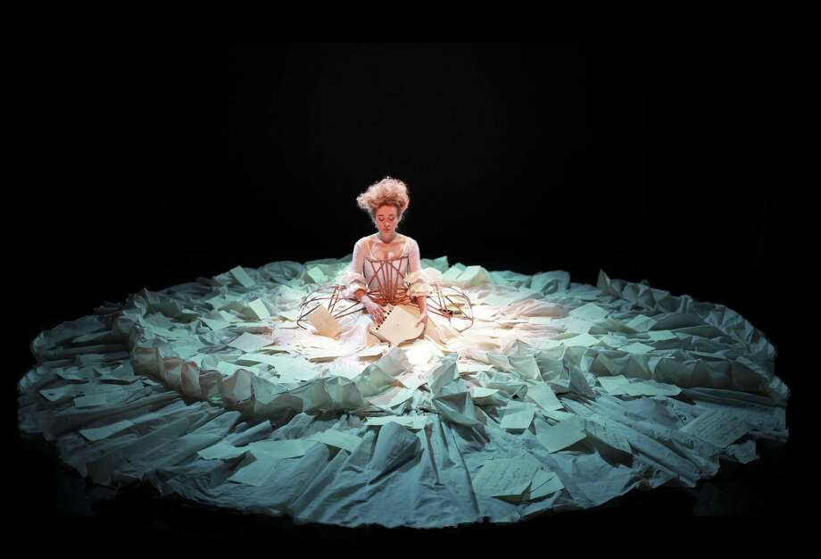 """Sylvia Milo in """"The Other Mozart,"""" which will be performed at UAlbany in March. (Little Matchstick Factory)"""