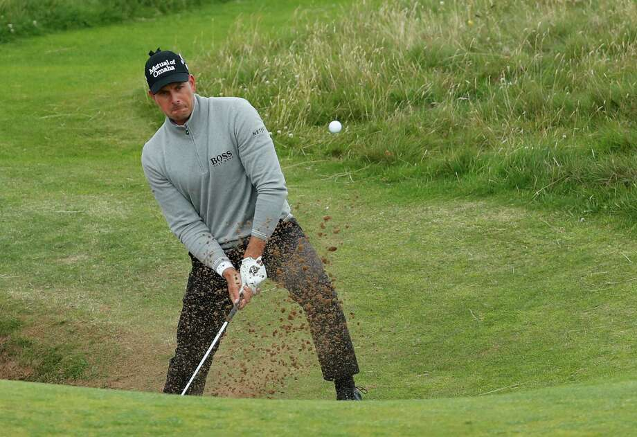 Sweden's Henrik Stenson, left, shot a 3-under 68 - his third straight round in the 60s - to take a one-shot lead over Phil Mickelson entering the final round Sunday. Photo: Ben Curtis, STF / Copyright 2016 The Associated Press. All rights reserved. This material may not be published, broadcast, rewritten or redistribu