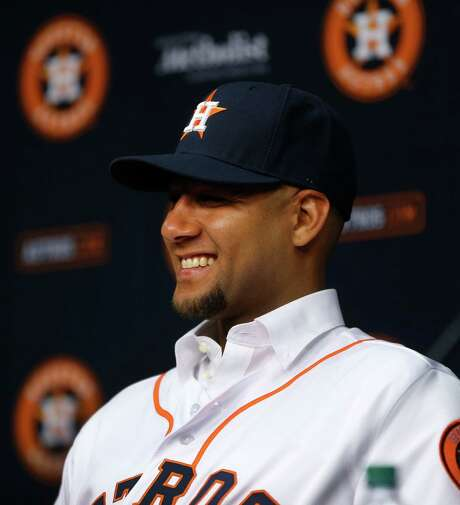 Yulieski Gurriel's signing gives the club depth in the infield, while adding a career .355 hitter with 250 home runs during his 15 years playing internationally. Photo: Karen Warren, Staff / © 2016 Houston Chronicle